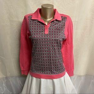 Vintage pink houndstooth shirt